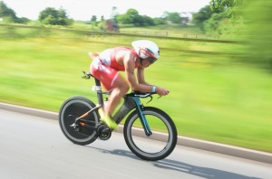LICHFIELD, ENGLAND - JUNE 14: Javier Gomez of Spain competes during the bike section of Ironman 70.3 Staffordshire on June 14, 2015 in Lichfield, England. (Photo by Nigel Roddis/Getty Images for Ironman)