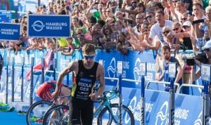Feuer und Flamme World Triathlon 2015, Hamburg, Maenner Elite Rennen, 17.07.2015, ©Joseph Kleindl