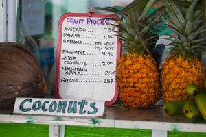 Fruit stand price sign-Hilo