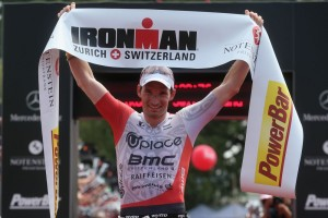 ZURICH, SWITZERLAND - JULY 19:  Ronny Schildknecht of Switzerland celebrates after winning Ironman Zurich on July 19, 2015 in Zurich, Switzerland.  (Photo by Joern Pollex/Getty Images for Ironman)