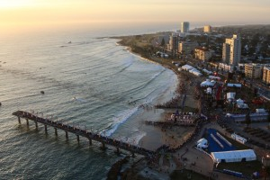 """""""PORT ELIZABETH, SOUTH AFRICA - APRIL 10: In this handout image provided by Ironman a general view during the Standard Bank IRONMAN African Championship at Nelson Mandela Bay, Port Elizabeth on April 10th, 2016 in Port Elizabeth, South Africa. (Photo by Craig Muller/IRONMAN via Getty Images)"""""""