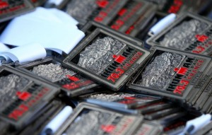 """AIX-EN-PROVENCE, FRANCE - MAY 01: Winners medals in display during Ironman 70.3 Aix en Provence on May 01, 2016 in Aix en Provence, France. (Photo by Charlie Crowhurst/Getty Images for Ironman) *** Local Caption ***"""