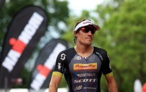 KRAICHGAU, GERMANY - JUNE 05: Sebastian Kienle of Germany (L) looks on during Kraichgau Ironman 70.3 on June 5, 2016 in Kraichgau, Germany. (Photo by Ben Hoskins/Getty Images) (Photo by Ben Hoskins/Getty Images for Ironman)