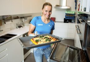 Laura Philipp und Polenta-Pizza
