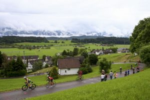 RAPPERSWIL, SWITZERLAND - JUNE 05:  Athletes compete in the bike leg during the Rapperswill-Jona Ironman on June 5, 2016 in Rapperswil, Switzerland.  (Photo by Jordan Mansfield/Getty Images for Ironman)