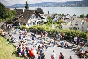 ZURICH, SWITZERLAND - JULY 24: Athlets compete in the cycle leg during Ironman Zurich on July 24, 2016 in Zurich, Switzerland. (Photo by Joern Pollex/Getty Images)