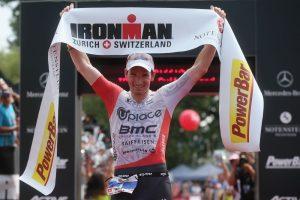 ZURICH, SWITZERLAND - JULY 19:  Ronny Schildknecht of Switzerland celebrates after winning Ironman Zurich on July 19, 2015 in Zurich, Switzerland.  (Photo by Joern Pollex/Getty Images for Ironman)
