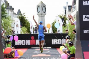 BINZ, GERMANY - SEPTEMBER 11: Andreas Dreitz (GER) wins the Ironman 70.3 competition on September 11, 2016 in Binz, Germany. (Photo by Alexander Koerner/Getty Images)