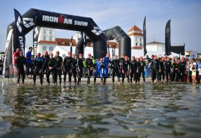 BINZ, GERMANY - SEPTEMBER 11: Athletes prepare for the start of the Ironman 70.3 competition on September 11, 2016 in Binz, Germany. (Photo by Alexander Koerner/Getty Images)