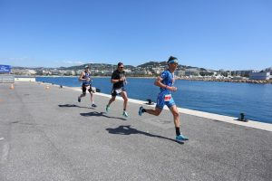 Profitriathlet Andy Raelert bei Cannes Triathlon 2017