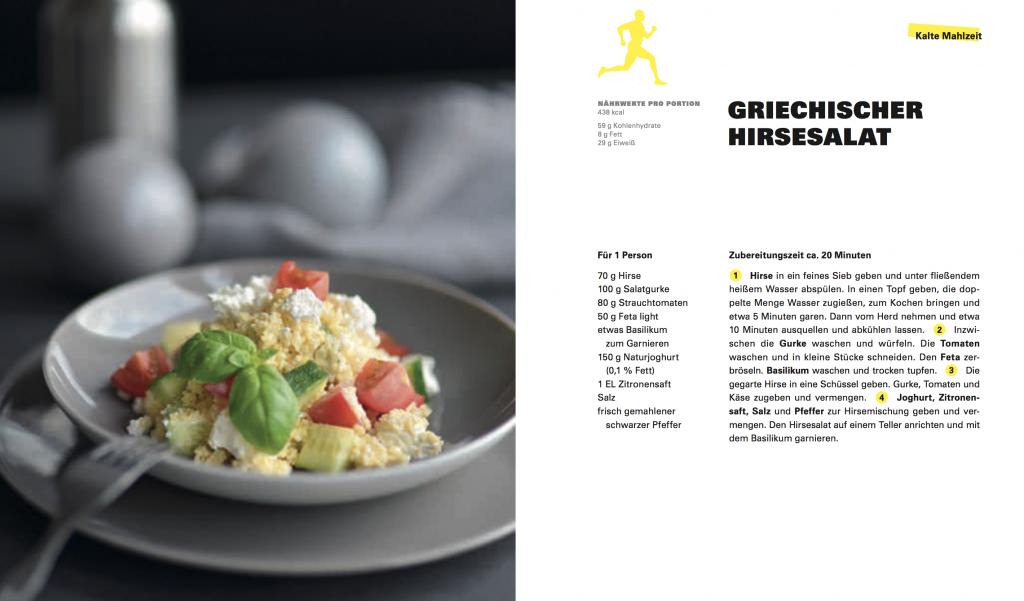 Rezept für Sportler für einen griechischen Hirsesalat