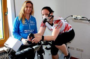 Leistungsdiagnostik mit Spirometrie auf dem Fahrrad