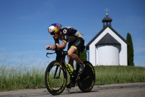 KRAICHGAU, GERMANY - JUNE 11: Sebastian Kienle of Germany competes in the cycle leg of the race during Ironman 70.3 Kraichgau on June 11, 2017 in Kraichgau, Germany. (Photo by Joern Pollex/Getty Images)