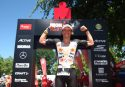 KRAICHGAU, GERMANY - JUNE 11: Sebastian Kienle of Germany celebrates after winning Ironman 70.3 Kraichgau on June 11, 2017 in Kraichgau, Germany. (Photo by Joern Pollex/Getty Images)