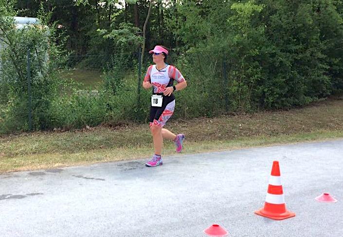Susanne Kienzle genießt das Laufen beim Rothsee-Triathlon