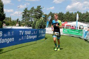Florian Teichmann beim Triathlon in Erlangen