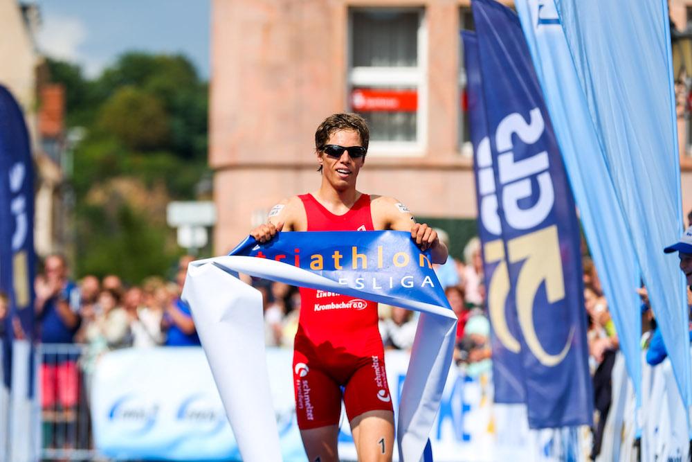 1. Bitburger 0,0% Triathlon Bundesliga, Justus Nieschlag, Deutscher Meister Elite Sprint Triathlon, Foto: DTU/JoKleindl