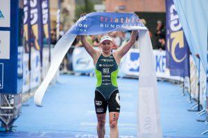 1. Bitburger 0,0% Triathlon Bundesliga, Laura Lindemann, Deutsche Meisterin Elite Sprint Triathlon, Foto: DTU/JoKleindl