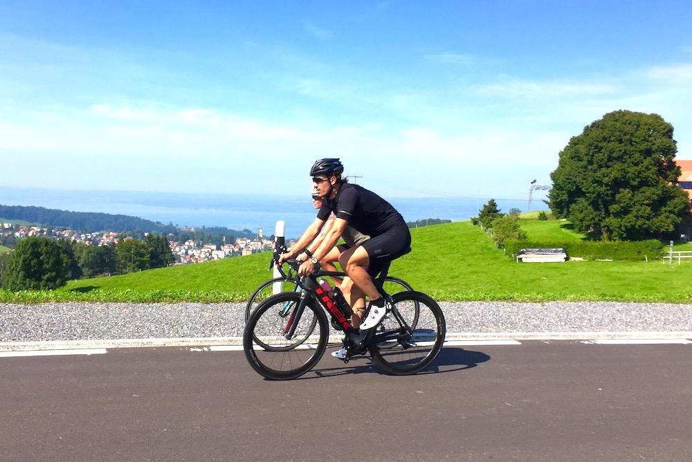 Fabian Cancellara auf der Radstrecke des TriStar Rorschach