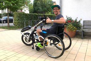 Karsten Pfeiffer mit seinem neuen Adaptivbike