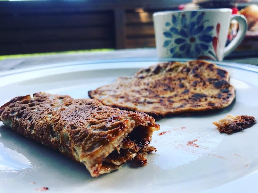 Pfannkuchen mit Vollkornmehl