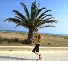 Triathletin Nadja Wachter beim Laufen