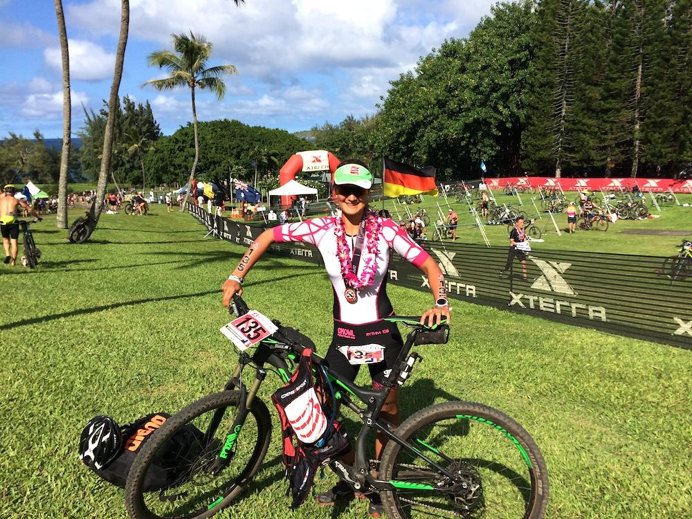 Verena Eisenbarth beim Xterra auf Maui