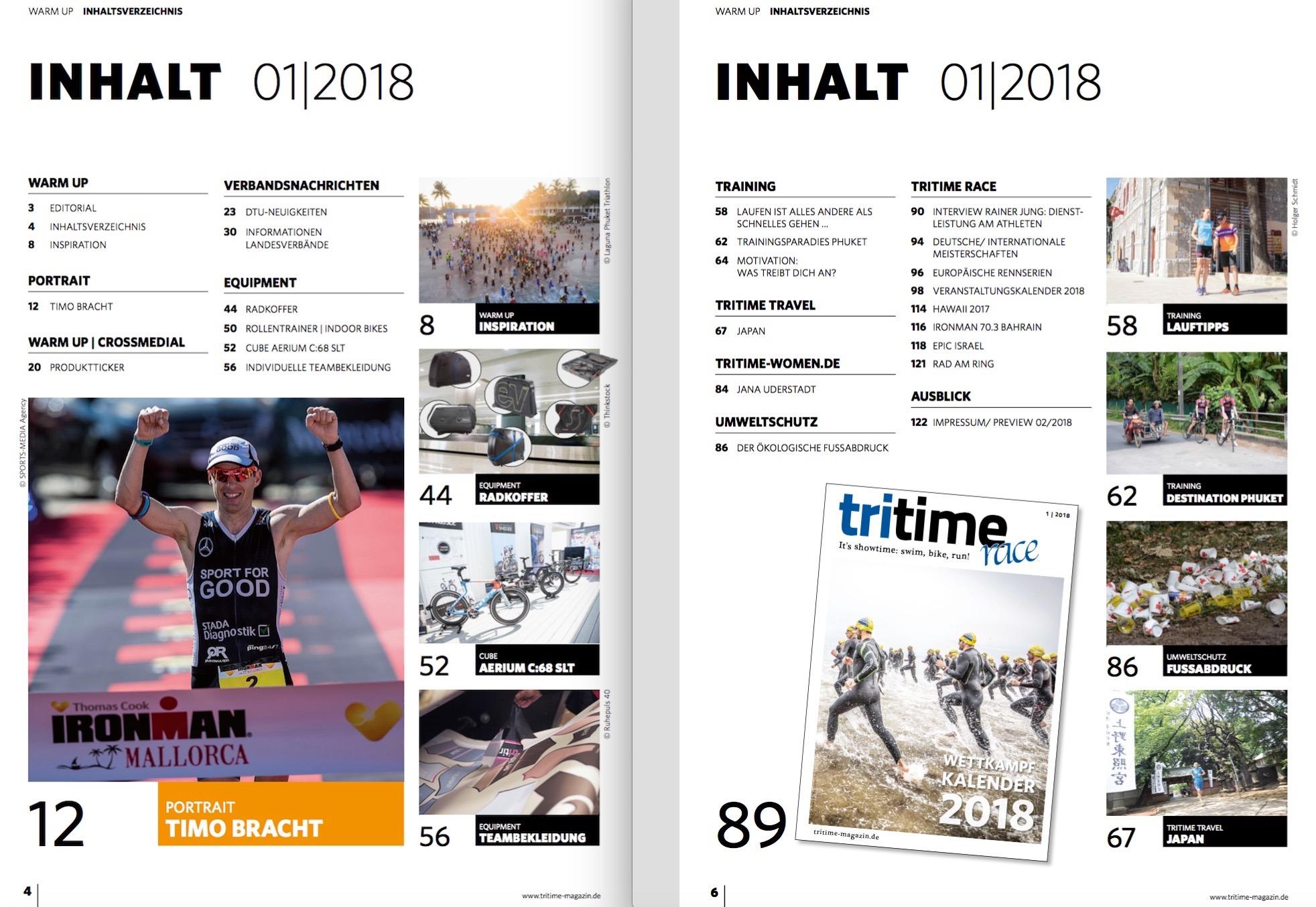 Inhaltsverzeichnis tritime #46 1-2018