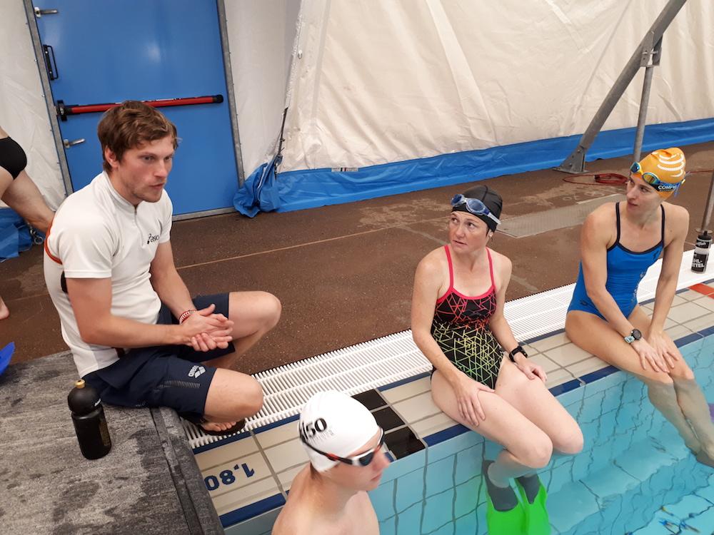 Schwimmtraining mit Sascha Wenzel