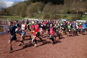 Start des Crossduathlon in Schleiden