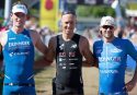 Männer-Podium beim Triathlon in Buschhüttenn