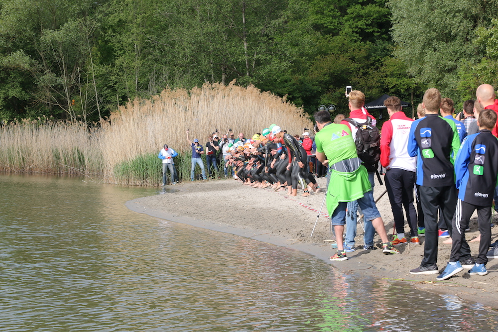 Start beim Heideseetriathlon