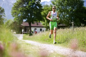 SAALFELDEN,AUSTRIA,26.MAY.17 - TRIATHLON, RUNNING - Trimotion 111 / 55.5. Image shows Marino Vanhoenacker (BEL).<br /> Photo: GEPA pictures/ Daniel Goetzhaber