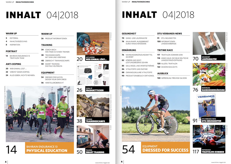 Inhaltsverzeichnis tritime #49 4-2018
