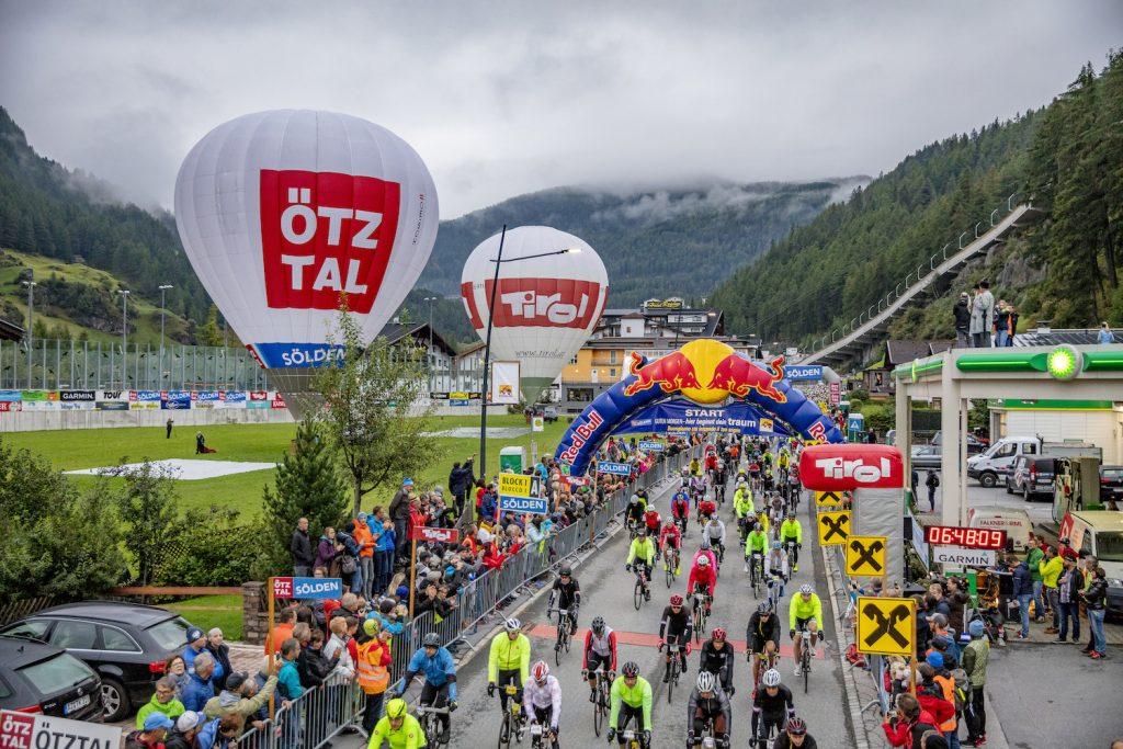 Startschuss Ötztaler Radmarathon 2018, Fotograf: Lukas Ennemoser | Ötztal Tourismus