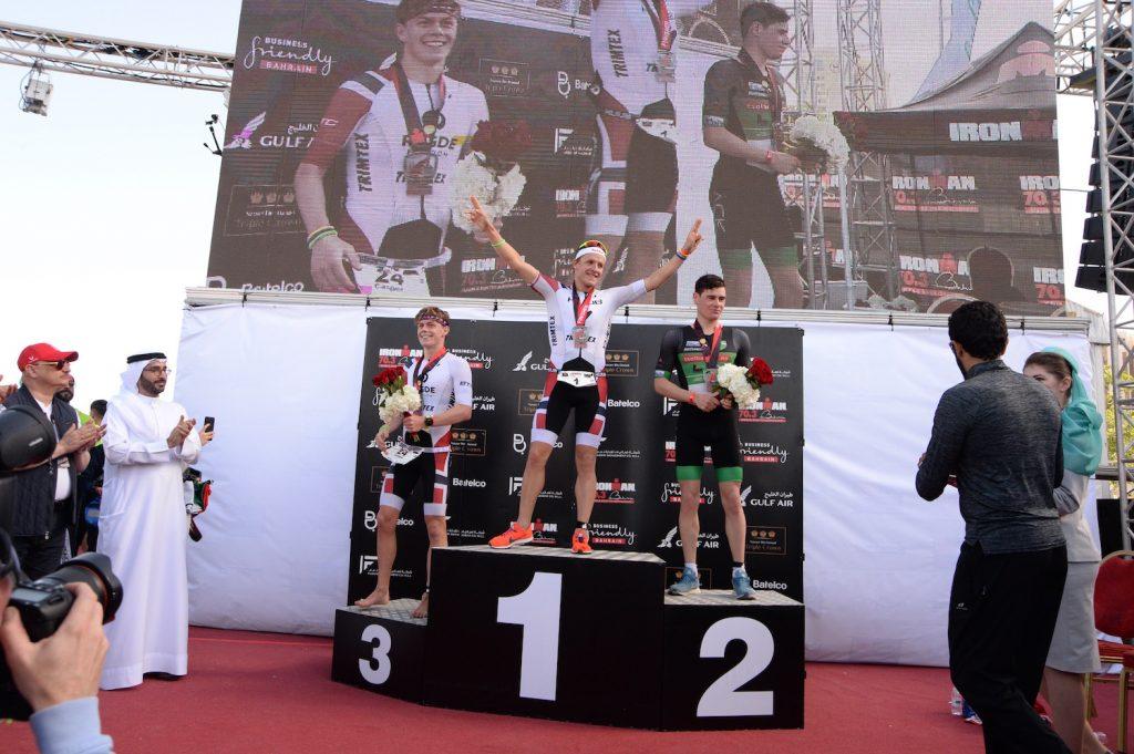 Ironman 70.3 Middle East Championship Bahrain, 2018, Podium Herren, © Klaus Arendt |tritime-magazin.de