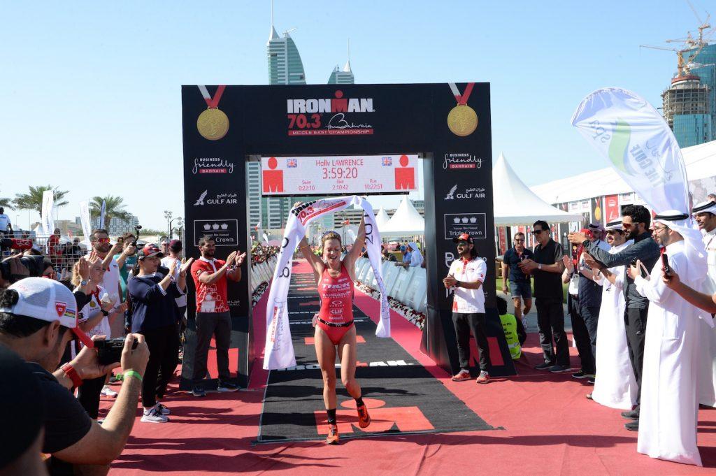 Ironman 70.3 Middle East Championship Bahrain, Siegerin Holly Lawrence (GBR) 2018, © Klaus Arendt |tritime-magazin.de