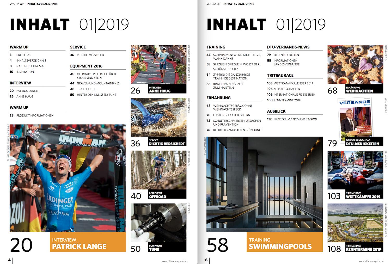 Inhaltsverzeichnis tritime #50 1-2019