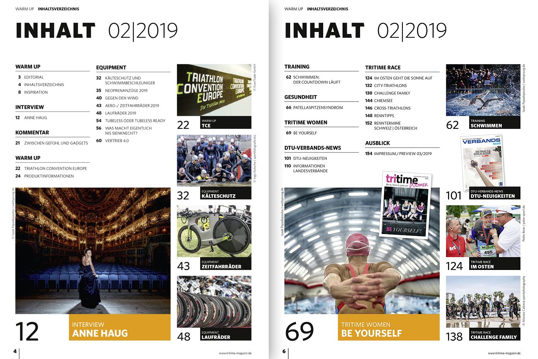 Inhaltsverzeichnis tritime #51 2-2019