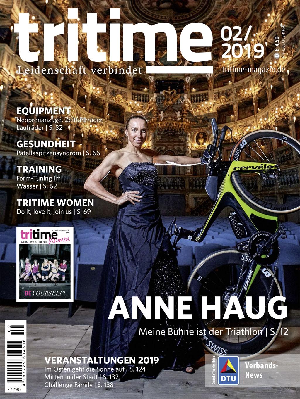 Titelbild tritime #51 |Anne Haug, tritime women, Patellaspitzensyndrom, Veranstaltungen 2019