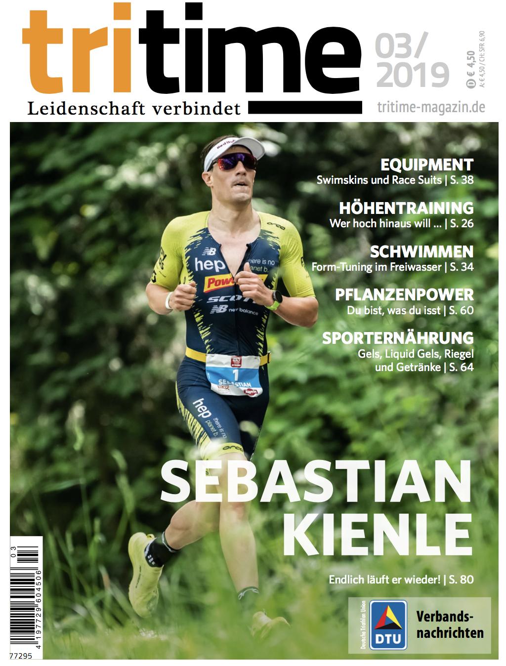 Titelbild tritime #52 |Sebastian Kienle, Sporternährung, Swimskins, Race Suits, Achillessehne, Veranstaltungen